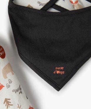 Ensemble bébé garçon 3 pièces : tee-shirt + foulard + pantalon - Sucre d'Orge vue3 - SUCRE D'ORGE - GEMO