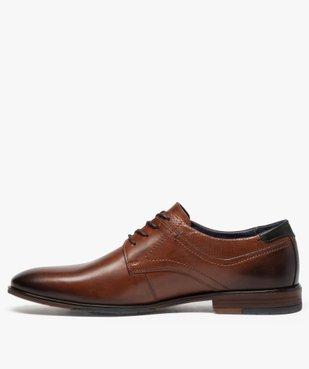Derbies homme dessus et intérieur cuir avec col perforé vue3 - Nikesneakers(URBAIN) - Nikesneakers
