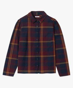 Chemise femme à carreaux 100% coton vue4 - GEMO(FEMME PAP) - GEMO