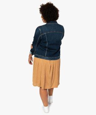 Veste femme grande taille en jean stretch vue3 - GEMO (G TAILLE) - GEMO