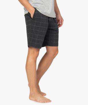 Short de pyjama homme en jersey à taille élastiquée vue1 - GEMO(HOMWR HOM) - GEMO
