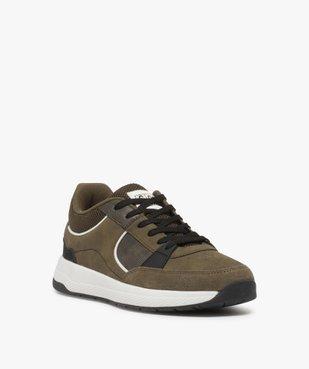 Baskets homme style skateshoes multimatières à lacets vue2 - GEMO (CASUAL) - GEMO