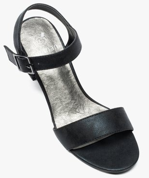 Sandales femme à talon et larges brides vue5 - GEMO(URBAIN) - GEMO