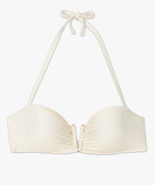 Haut de maillot de bain femme à paillettes forme bandeau  vue4 - GEMO (PLAGE) - GEMO