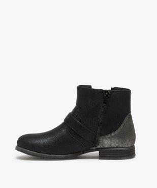 Boots fille zippés avec étoile pailletée sur le côté vue3 - Nikesneakers (ENFANT) - Nikesneakers