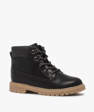 Boots fille avec col fantaisie et semelle crantée vue2 - Nikesneakers (ENFANT) - Nikesneakers