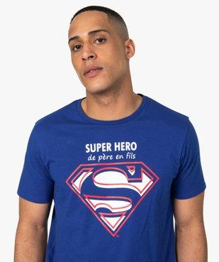 Tee-shirt homme avec motif et inscription - Superman vue2 - SUPERMAN - GEMO