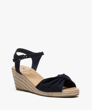 Sandales femme à talon compensé en corde vue2 - GEMO(URBAIN) - GEMO