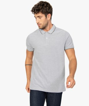 Polo homme à manches courtes avec finitions fantaisie vue1 - Nikesneakers (HOMME) - Nikesneakers