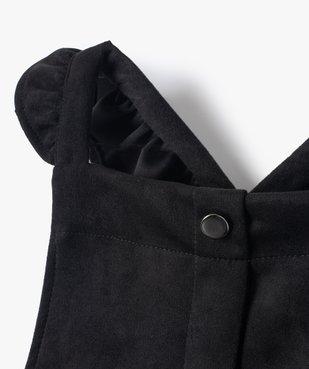 Robe fille en velours extensible à bretelles volantées vue2 - GEMO (ENFANT) - GEMO