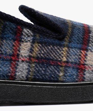 Chaussons pour homme style charentaises à carreaux vue6 - GEMO C4G HOMME - GEMO