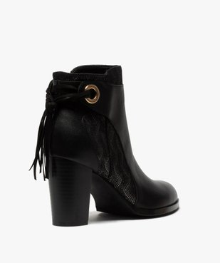 Boots femme à talon avec laçage fantaisie sur le contrefort vue4 - GEMO(URBAIN) - GEMO
