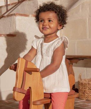 Blouse bébé fille ample en double gaze de coton vue6 - GEMO (ENFANT) - GEMO