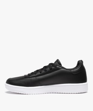 Baskets homme unies à lacets – Adidas Hoops 2.0 vue3 - ADIDAS - GEMO