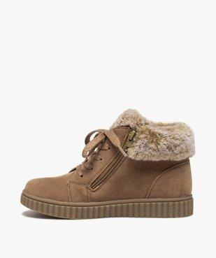 Boots fille rembourrées en suédine unie à col duveteux vue3 - Nikesneakers (ENFANT) - Nikesneakers