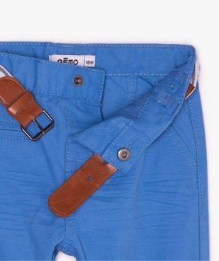 Pantalon bébé garçon chino avec ceinture rayée vue2 - GEMO(BEBE DEBT) - GEMO