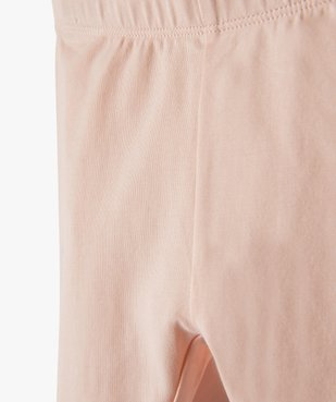 Legging bébé fille long en coton stretch vue2 - GEMO C4G BEBE - GEMO