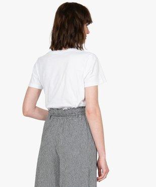 Tee-shirt femme à manches courtes motif Mickey - Disney vue3 - DISNEY DTR - GEMO