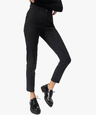 Pantalon femme en toile coupe Slim vue1 - GEMO(FEMME PAP) - GEMO