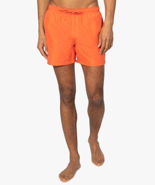 Short de bain homme uni vue1 - GEMO (PLAGE) - GEMO