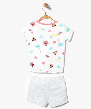 Ensemble 2 pièces : short + tee-shirt à motif estival - Disney Minnie Mouse vue2 - MINNIE - GEMO