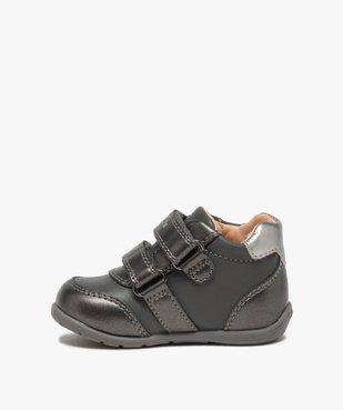 Chaussures bébé fille à scratch décor fleurs - Geox vue3 - GEOX - Nikesneakers
