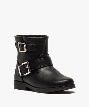 Boots fille unis avec boucles décoratives fermeture zippée vue2 - GEMO (ENFANT) - GEMO