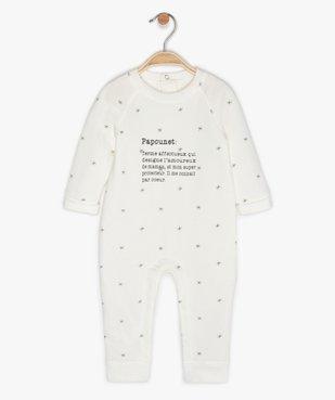 Pyjama bébé sans pieds en jersey imprimé étoiles vue1 - GEMO(BB COUCHE) - GEMO