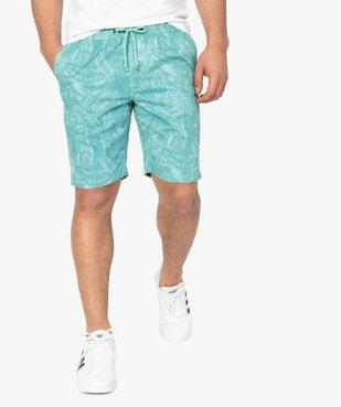 Bermuda homme motif feuillage tropical vue1 - Nikesneakers (HOMME) - Nikesneakers