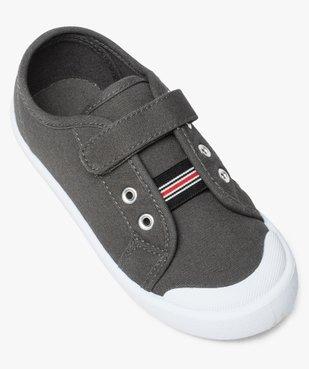 Chaussures basses garçon en toile fermeture à scratch vue5 - GEMO (ENFANT) - GEMO