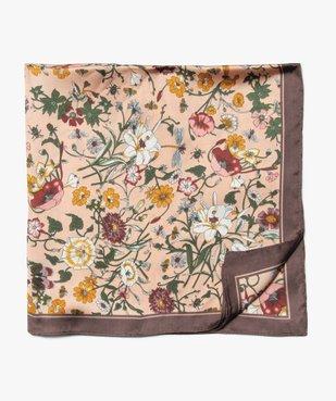 Foulard femme carré petit format à imprimé fleuri vue1 - GEMO (ACCESS) - GEMO