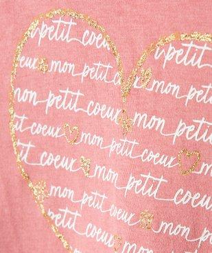Tee-shirt bébé fille manches longues avec motifs et inscriptions vue3 - Nikesneakers C4G BEBE - Nikesneakers