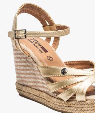 Sandales femme à talon compensé et fines brides – Terre de Marins vue6 - TERRE DE MARINS - GEMO