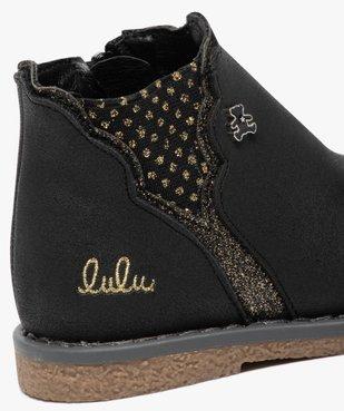 Boots bébé fille zippées à détails pailletés – Lulu Castagnette vue6 - LULU CASTAGNETT - GEMO