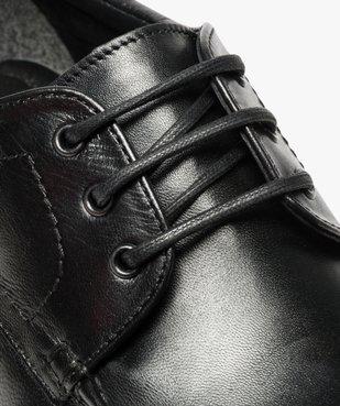Mocassins homme à lacets dessus et intérieur cuir vue6 - Nikesneakers(URBAIN) - Nikesneakers