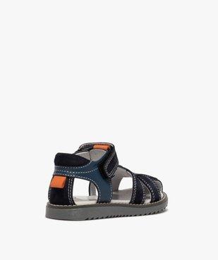 Sandales garçon à brides en cuir et fermeture scratch vue4 - Nikesneakers (ENFANT) - Nikesneakers