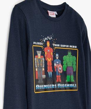 Tee-shirt garçon à manches longues imprimé Avengers - Marvel vue3 - MARVEL DTR - GEMO