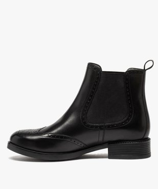 Boots femme style chelsea unis à bout fleuri vue3 - Nikesneakers (CASUAL) - Nikesneakers