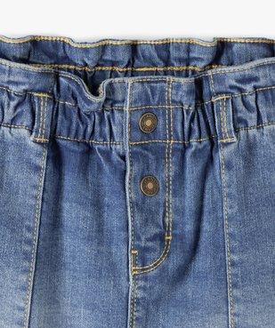 Jupe fille en jean avec taille froncée vue2 - GEMO C4G FILLE - GEMO