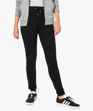 Pantalon de jogging femme en jersey molletonné vue1 - GEMO(FEMME PAP) - GEMO