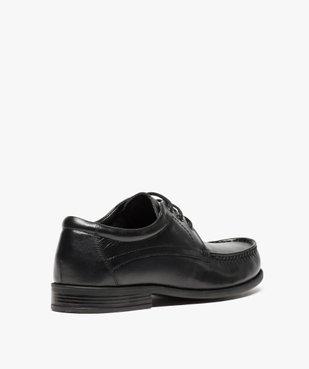 Mocassins homme à lacets dessus et intérieur cuir vue4 - Nikesneakers(URBAIN) - Nikesneakers