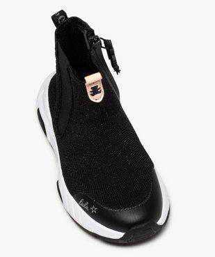 Baskets fille montantes style chaussettes - LuluCastagnette vue5 - LULU CASTAGNETT - Nikesneakers