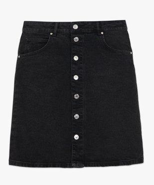 Jupe femme en jean mi-longue boutonnée sur l'avant vue4 - GEMO(FEMME PAP) - GEMO