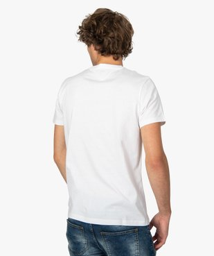 Tee-shirt homme regular à manches courtes en coton bio vue3 - GEMO C4G HOMME - GEMO