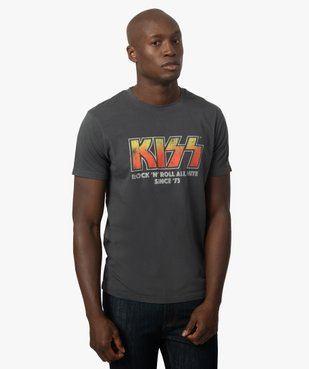 Tee-shirt homme avec inscription rock - Kiss vue1 - KISS - GEMO