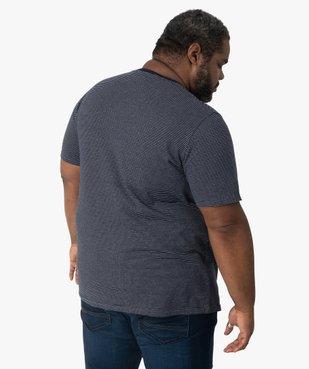 Tee-shirt homme à rayures et poche poitrine vue3 - GEMO (G TAILLE) - GEMO
