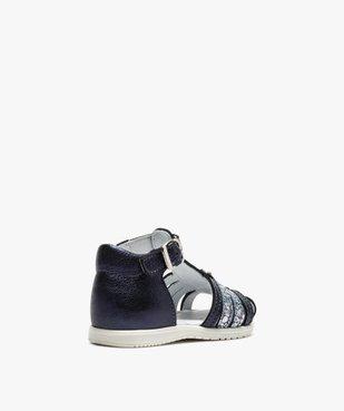 Sandales premiers pas bébé fille à reflets métallisés vue4 - Nikesneakers(BEBE DEBT) - Nikesneakers