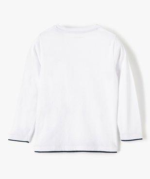 Tee-shirt garçon imprimé rock à manches longues - Lulu Castagnette vue3 - LULUCASTAGNETTE - GEMO