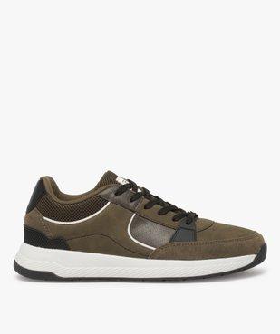 Baskets homme style skateshoes multimatières à lacets vue1 - GEMO (CASUAL) - GEMO