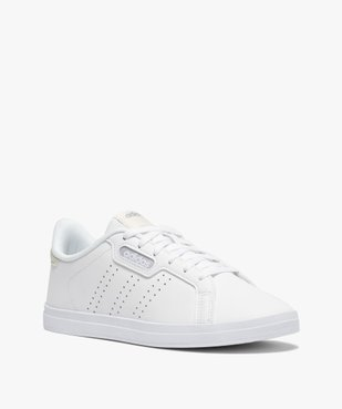 Baskets femme unies à lacets – Adidas Courtpoint Base vue2 - ADIDAS - Nikesneakers